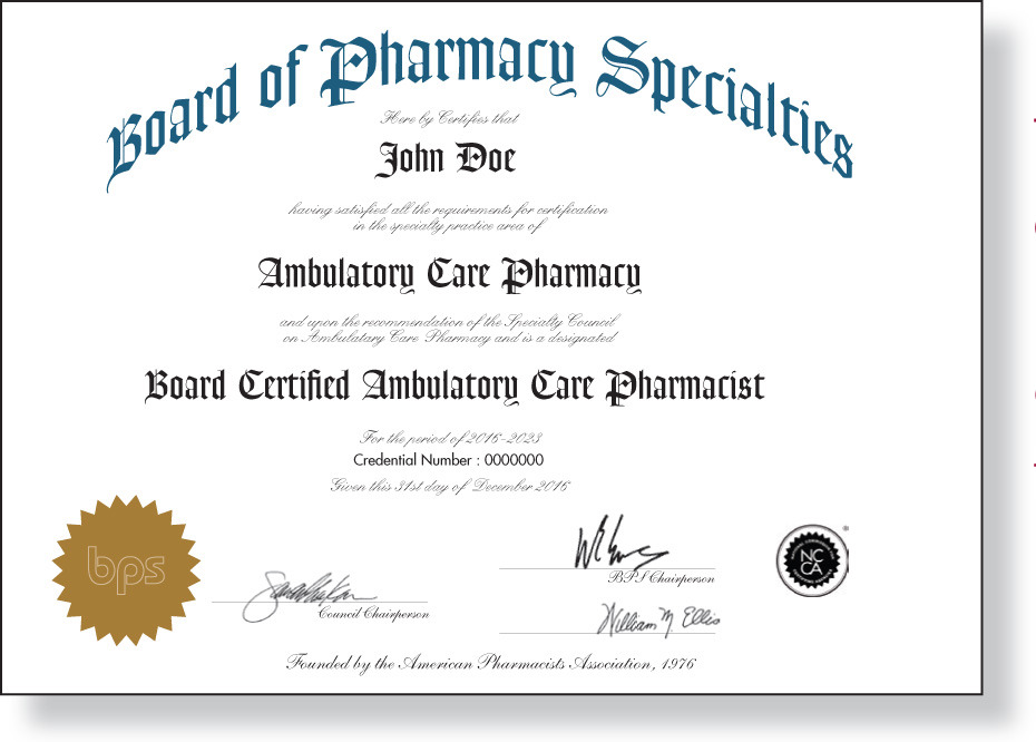 Board Certification For Community Pharmacists Grows Alongside